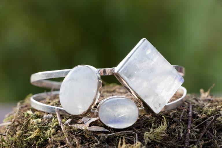 Bracelet en argent 925 Pierre Labradorite Blanche