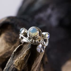Bague en argent 925 pierre Opale