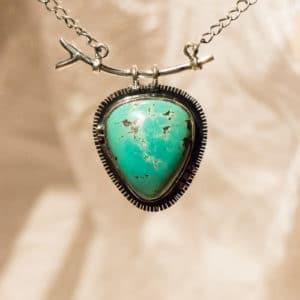 Collier 48 cm - pierre Turquoise