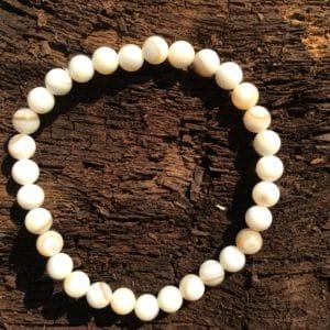 Bracelet pierre Agate Blanche