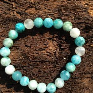 Bracelet en pierre Hémimorphite