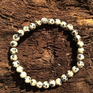 Bracelet pierre Jaspe dalmatien