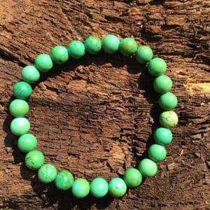 Bracelet pierre turquoise verte